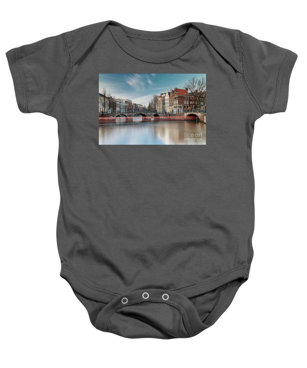 Amsterdam Baby Onesie featuring the photograph Amsterdam by Menno Schaefer