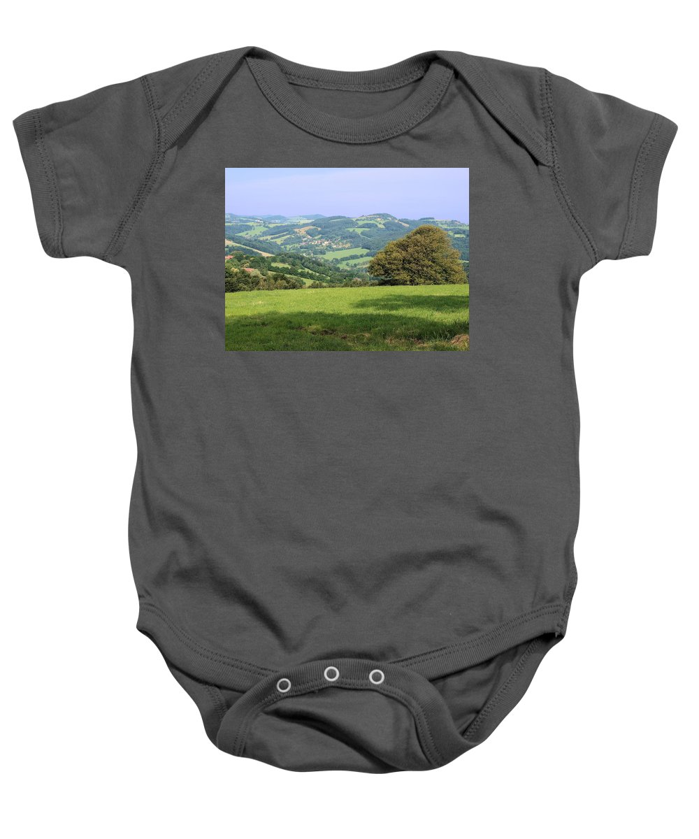 Trees Baby Onesie featuring the photograph Countryside by FL collection
