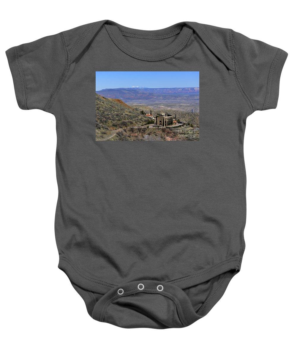 Jerome Baby Onesie featuring the photograph Jerome Arizona by Yefim Bam