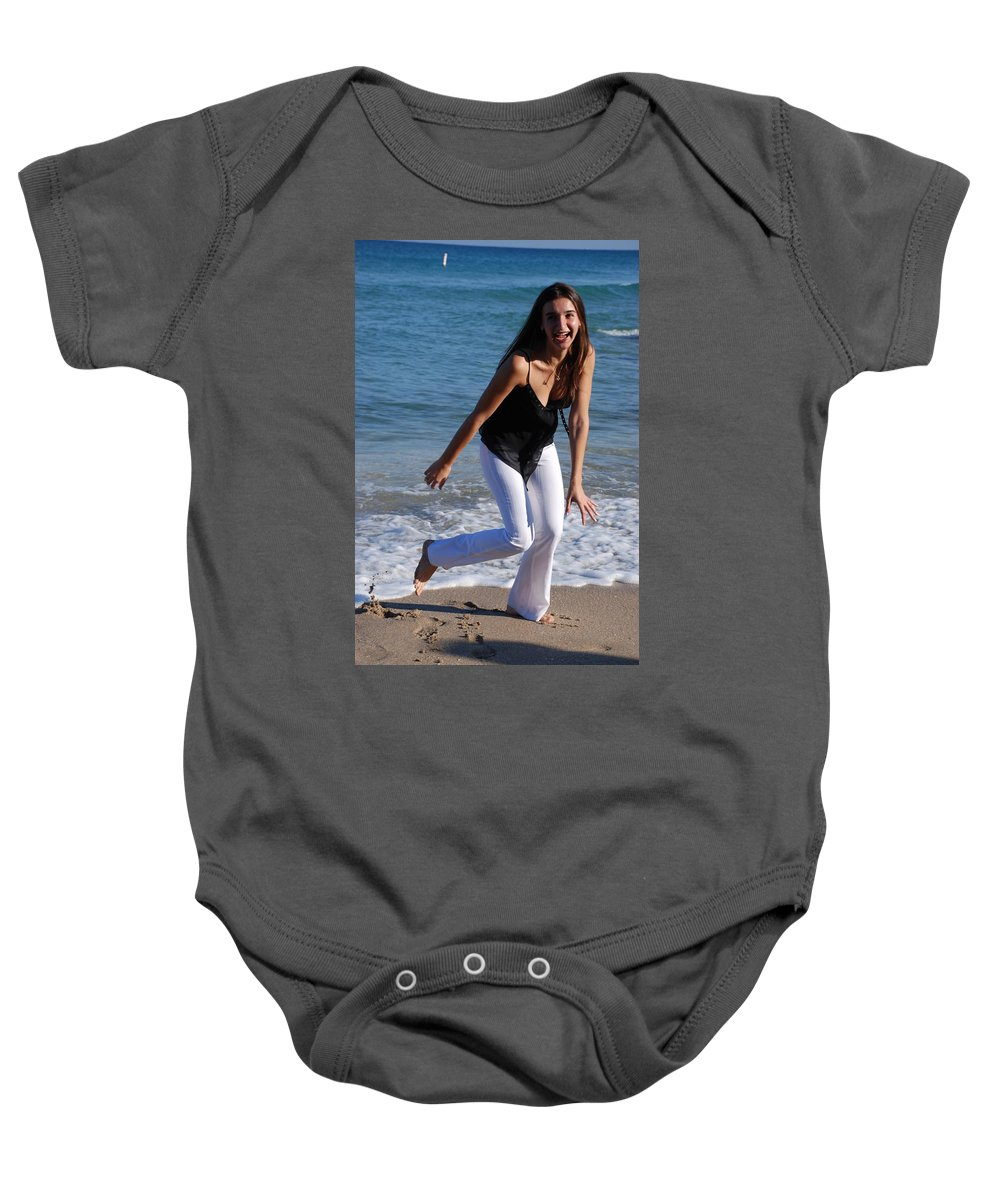 Sea Scape Baby Onesie featuring the photograph Gisele by Rob Hans
