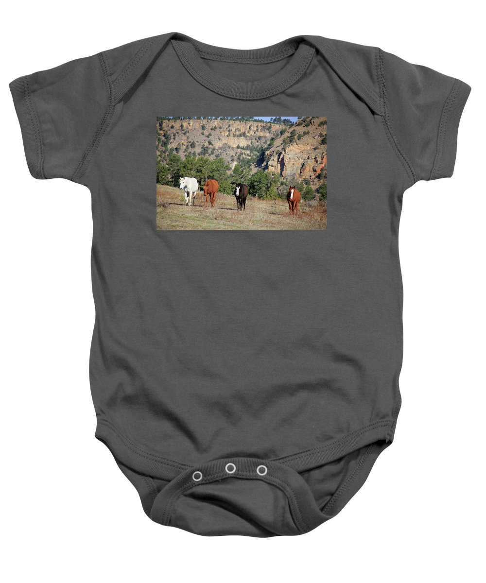 Horse Baby Onesie featuring the photograph 8188 by Genna Card