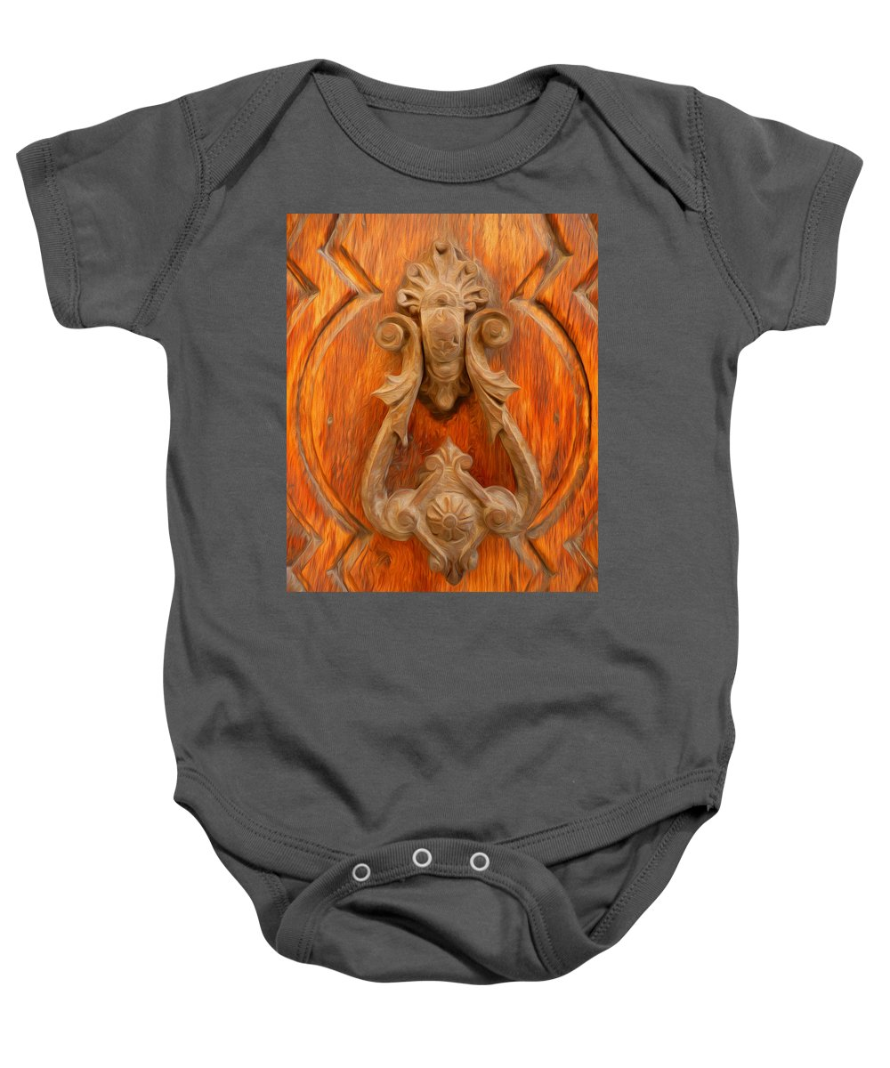 A Charming Entrance Baby Onesie featuring the photograph A Charming Entrance by Georgiana Romanovna