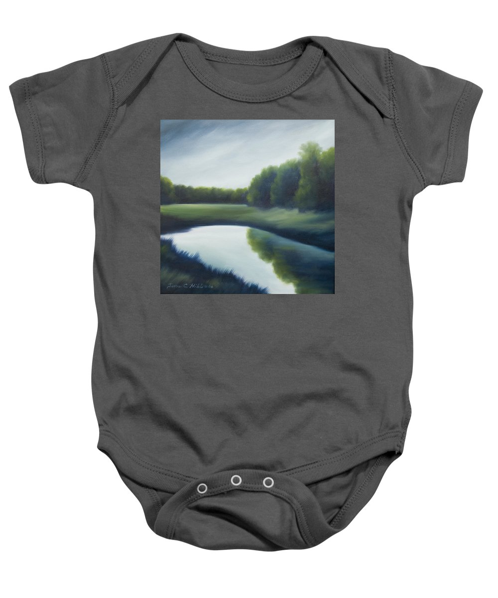 Clouds Baby Onesie featuring the painting A Day In The Life 2 by James Christopher Hill