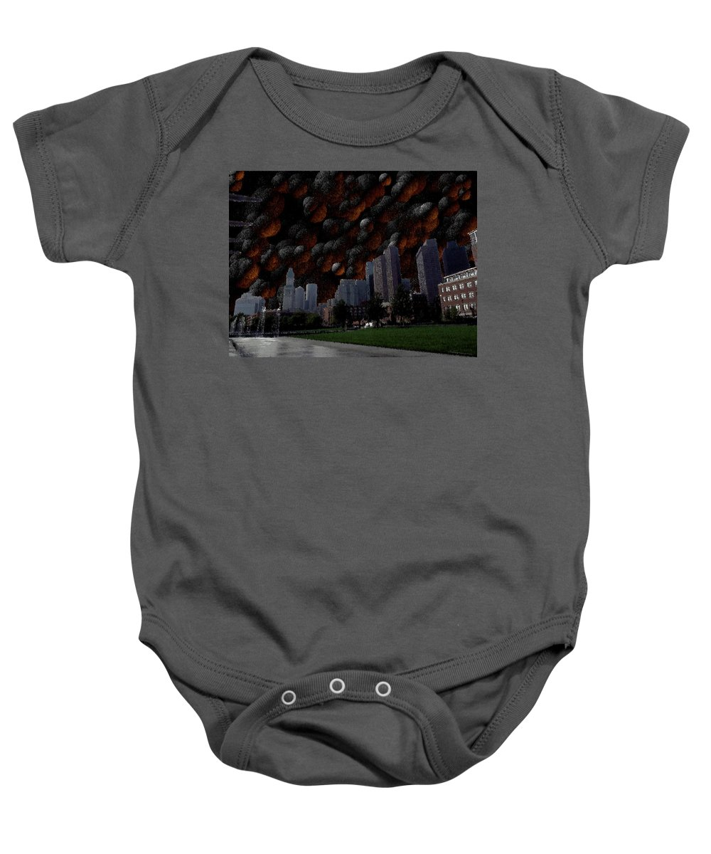 Boston Baby Onesie featuring the digital art A Dimension Of Boston Rarely Seen by Vincent Green