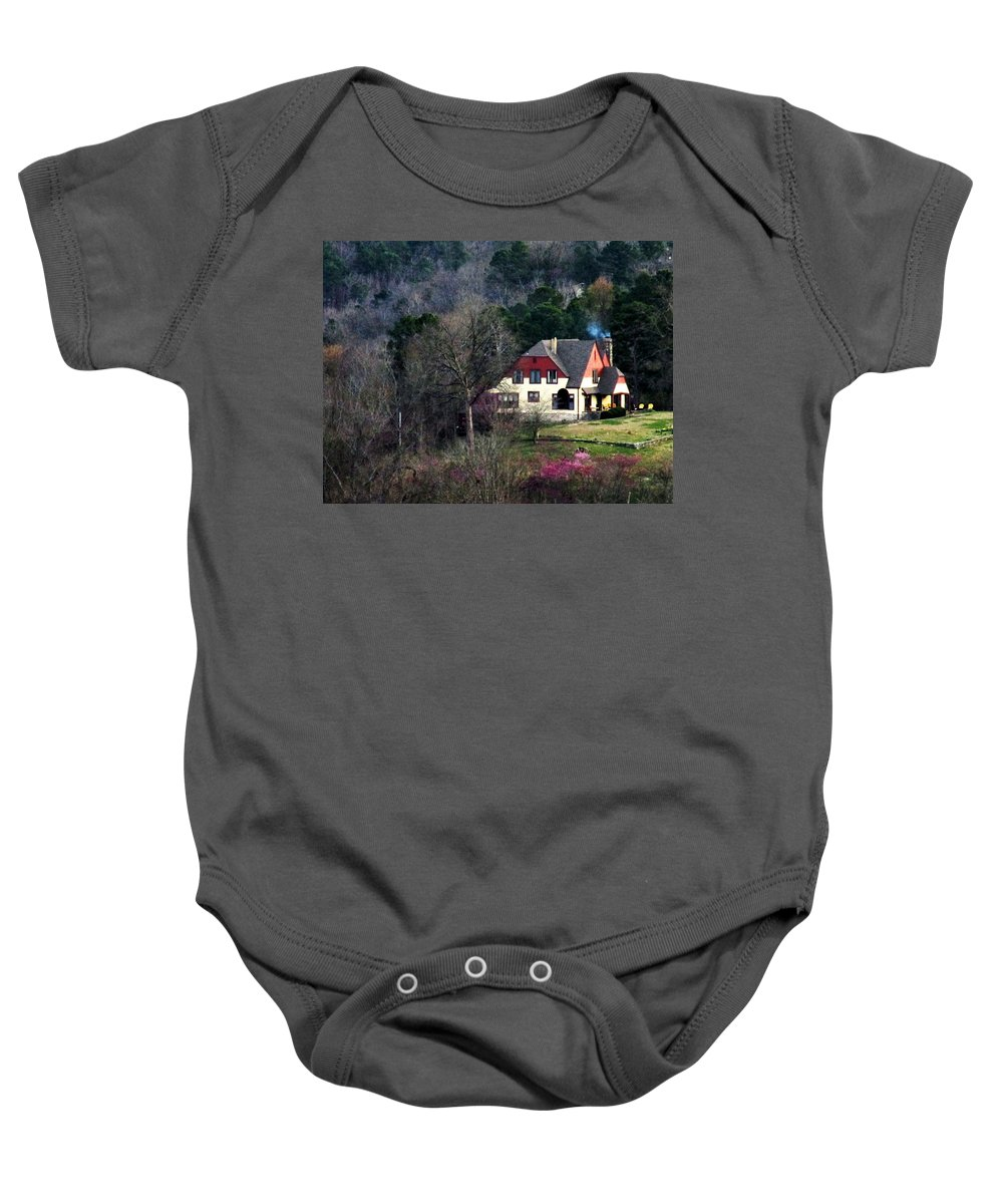 Home Baby Onesie featuring the photograph A Home In The Country by W And F Kreations