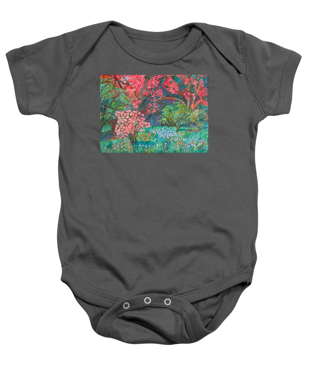 Landscape Baby Onesie featuring the painting A Memory by Kendall Kessler