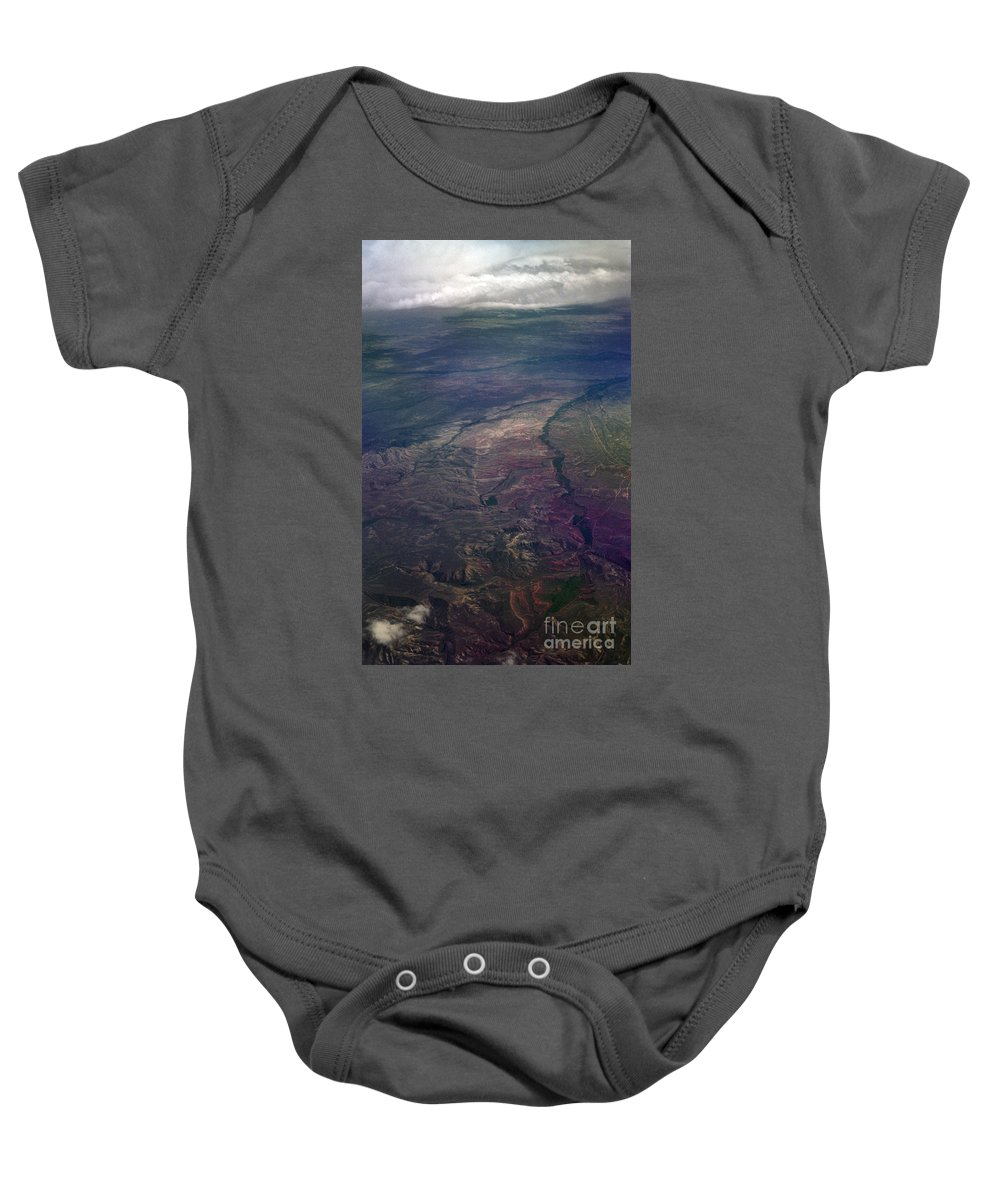 Aerial Photography Baby Onesie featuring the photograph A Midwestern Landscape by Richard Rizzo