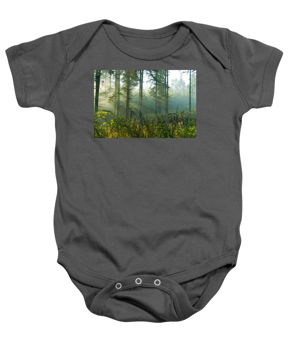 Nature Baby Onesie featuring the photograph A New Day Has Come by Daniel Csoka