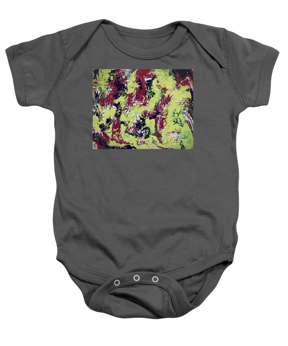 Keith Elliott Baby Onesie featuring the painting A New Day - V1cs100 by Keith Elliott