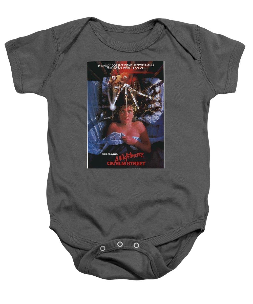 A Nightmare On Elm Street Baby Onesie featuring the digital art A Nightmare On Elm Street by Geek N Rock