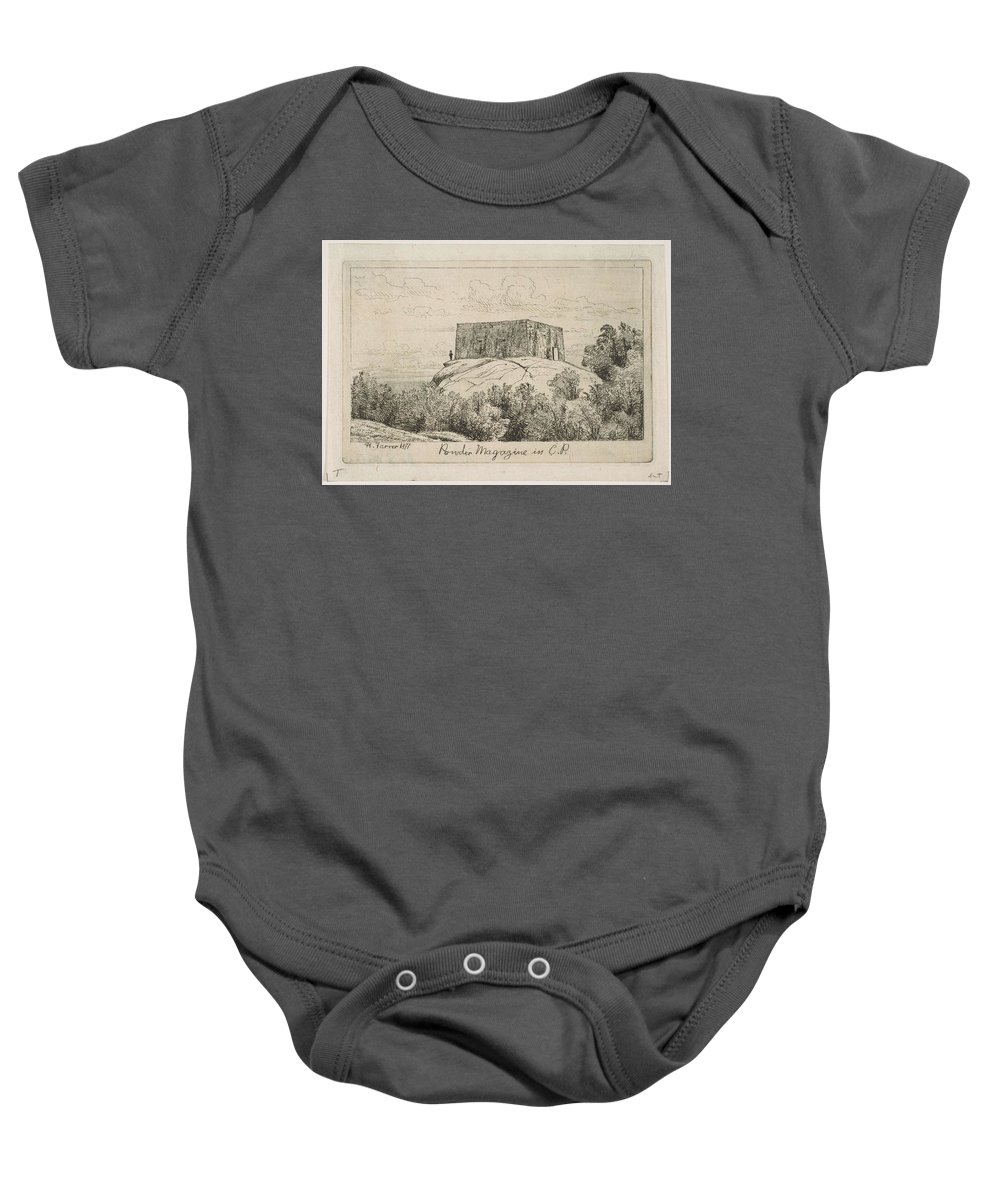 Nature Baby Onesie featuring the painting A Powder Magazine In Central Park From Scenes Of Old New York, By Henry Farrer, 1844-1903 by Henry Farrer