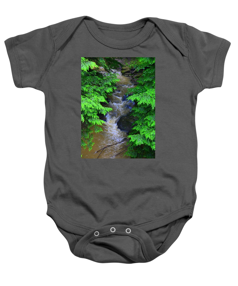 A River Runs Though It Baby Onesie featuring the photograph A River Runs Through It by Lisa Wooten