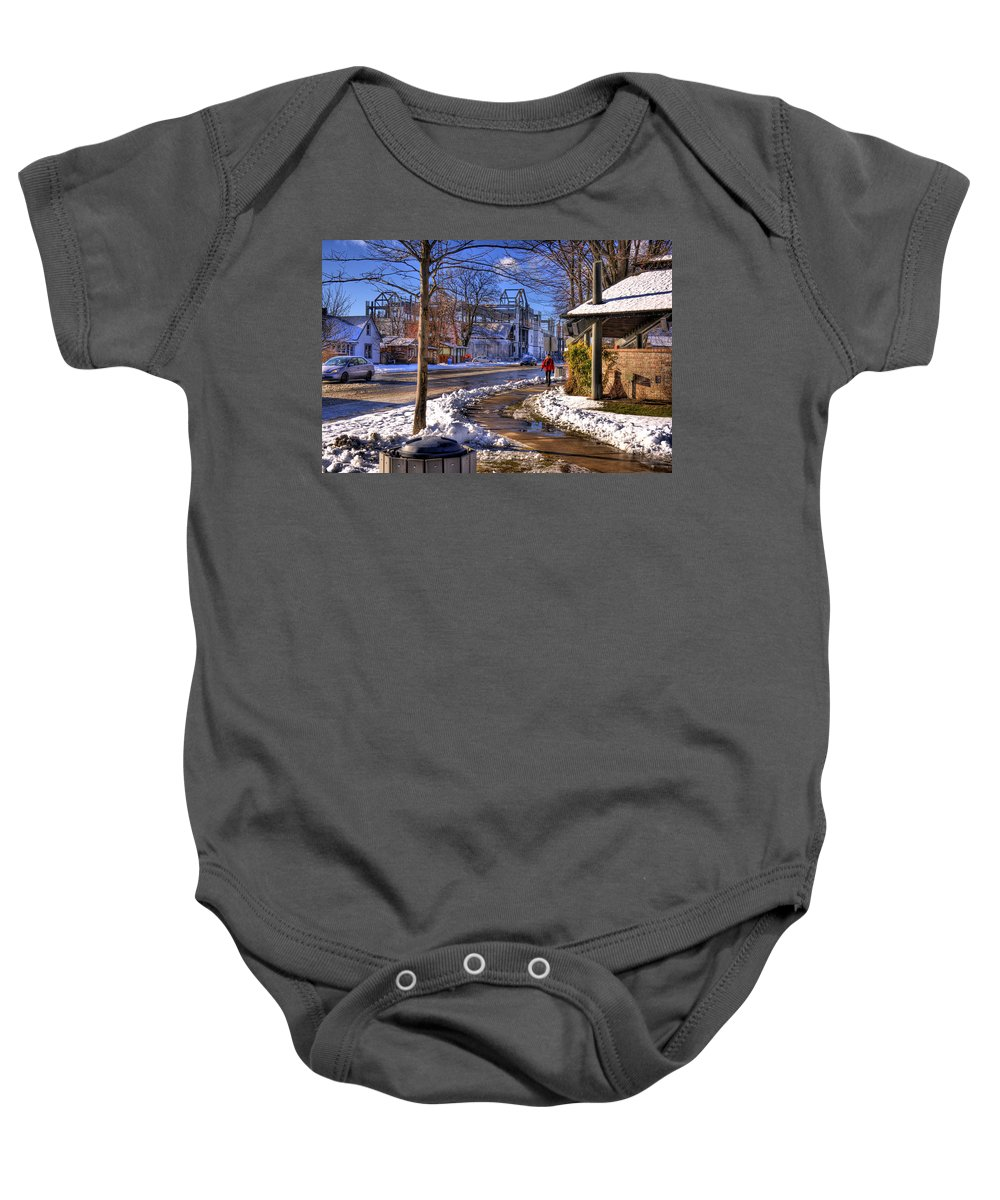 Scenic Baby Onesie featuring the photograph A Sandpoint Winter by Lee Santa
