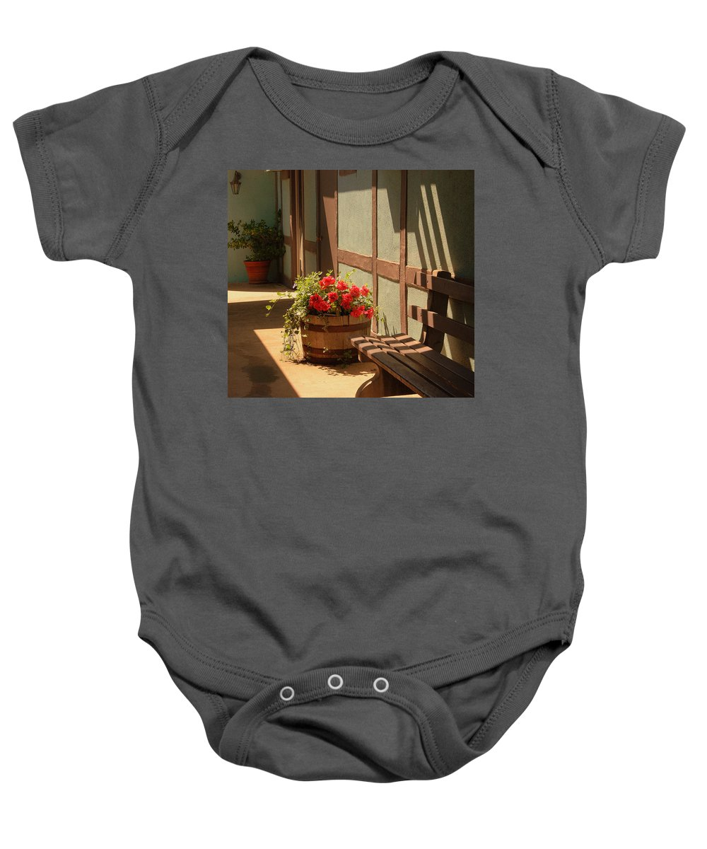 Photography Baby Onesie featuring the photograph A Sunny Spot by Susanne Van Hulst