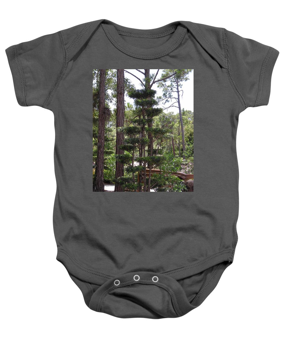 Tree Baby Onesie featuring the photograph A Towering Tree by Stacey Marshall