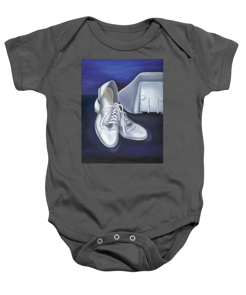 Nurse Baby Onesie featuring the painting A Tradition Of White by Marlyn Boyd