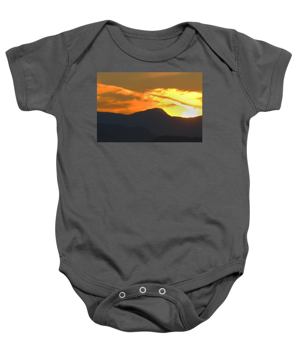 Vancouver Baby Onesie featuring the photograph A Vancouver Sunset by Richard Henne