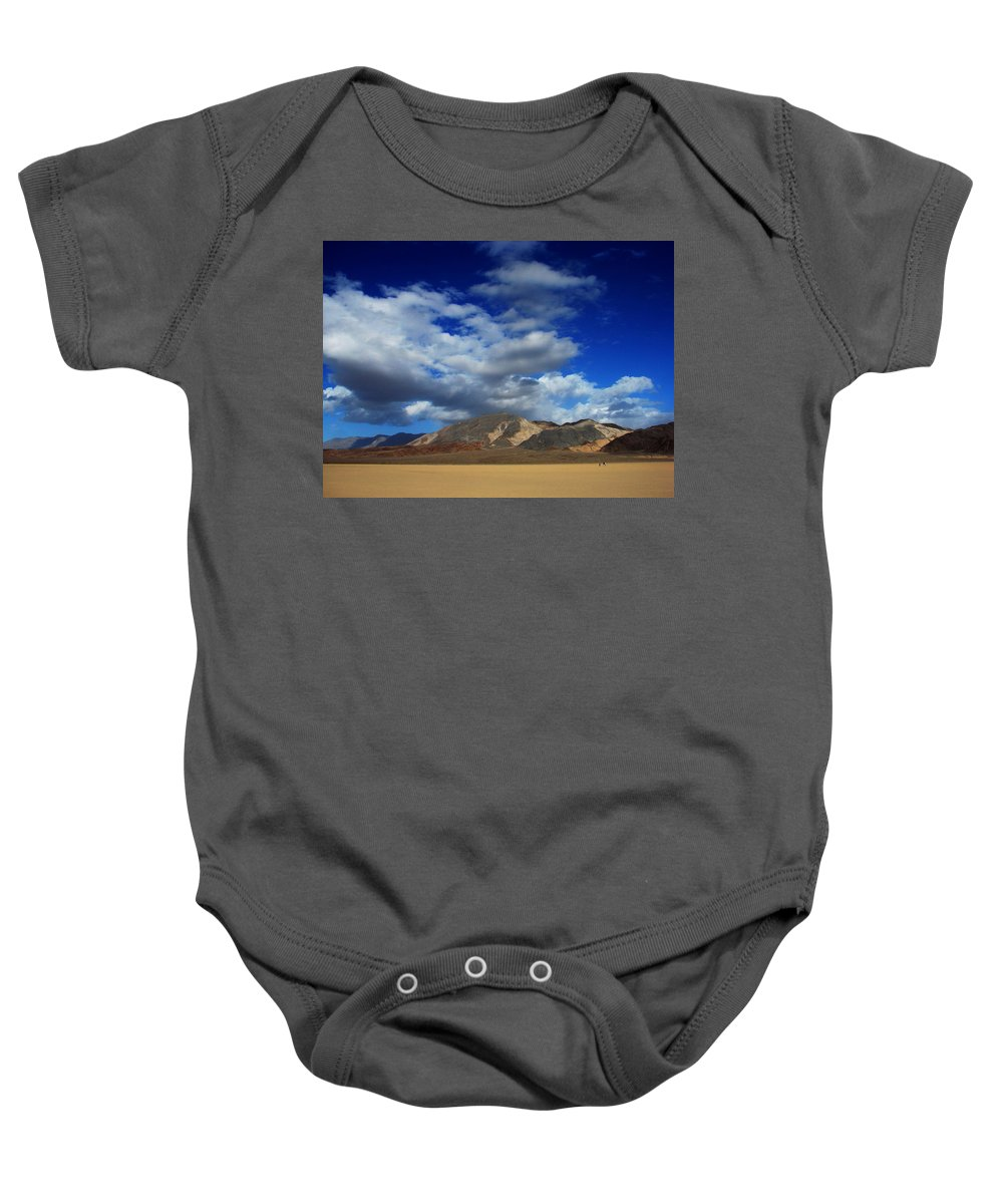 Desert Baby Onesie featuring the photograph A Walk In The Desert by Linda Arnn Arteno