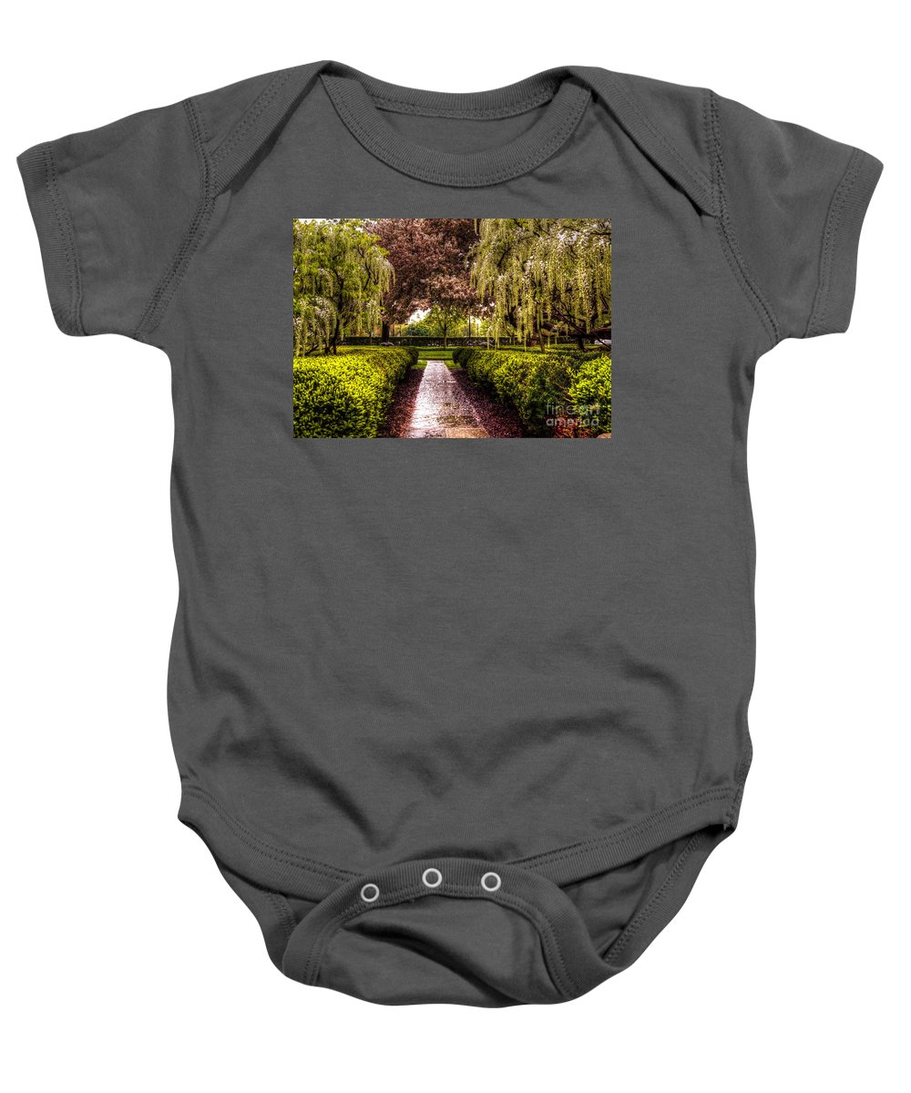 War Memorial Baby Onesie featuring the photograph A Walk In The Park by Chris Fleming