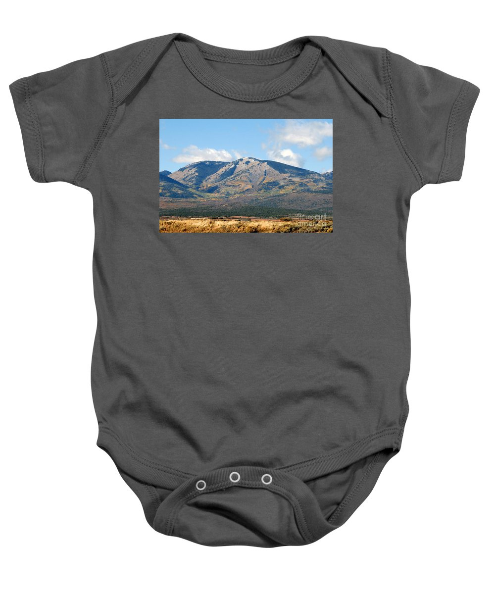 Abajo Mountains Utah Baby Onesie featuring the photograph Abajo Mountains Utah by David Lee Thompson