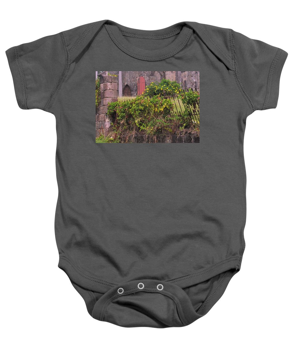 Anglican Baby Onesie featuring the photograph Abandoned Churchyard by Ian MacDonald