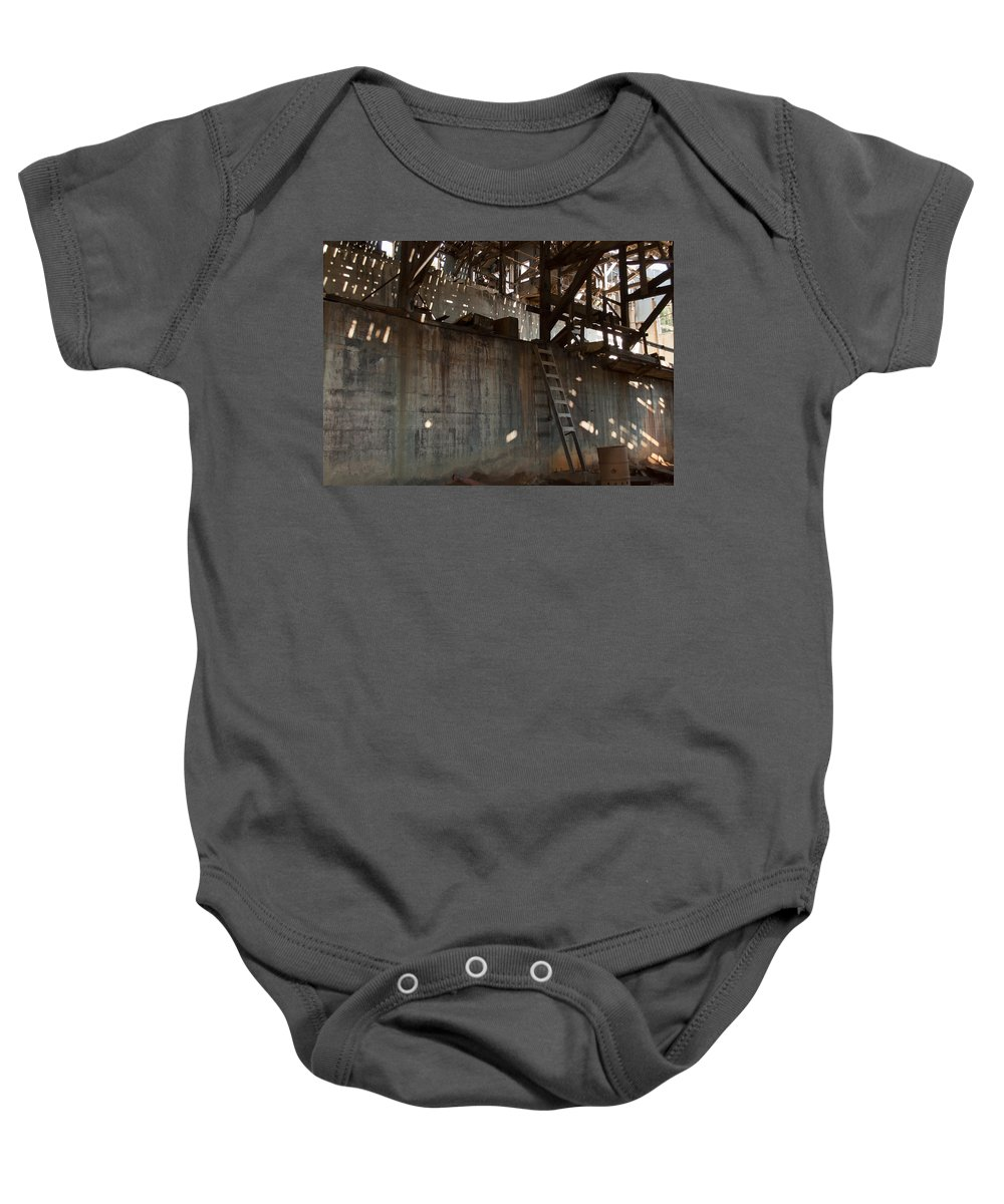 Abandoned Baby Onesie featuring the photograph Abandoned by Fran Riley