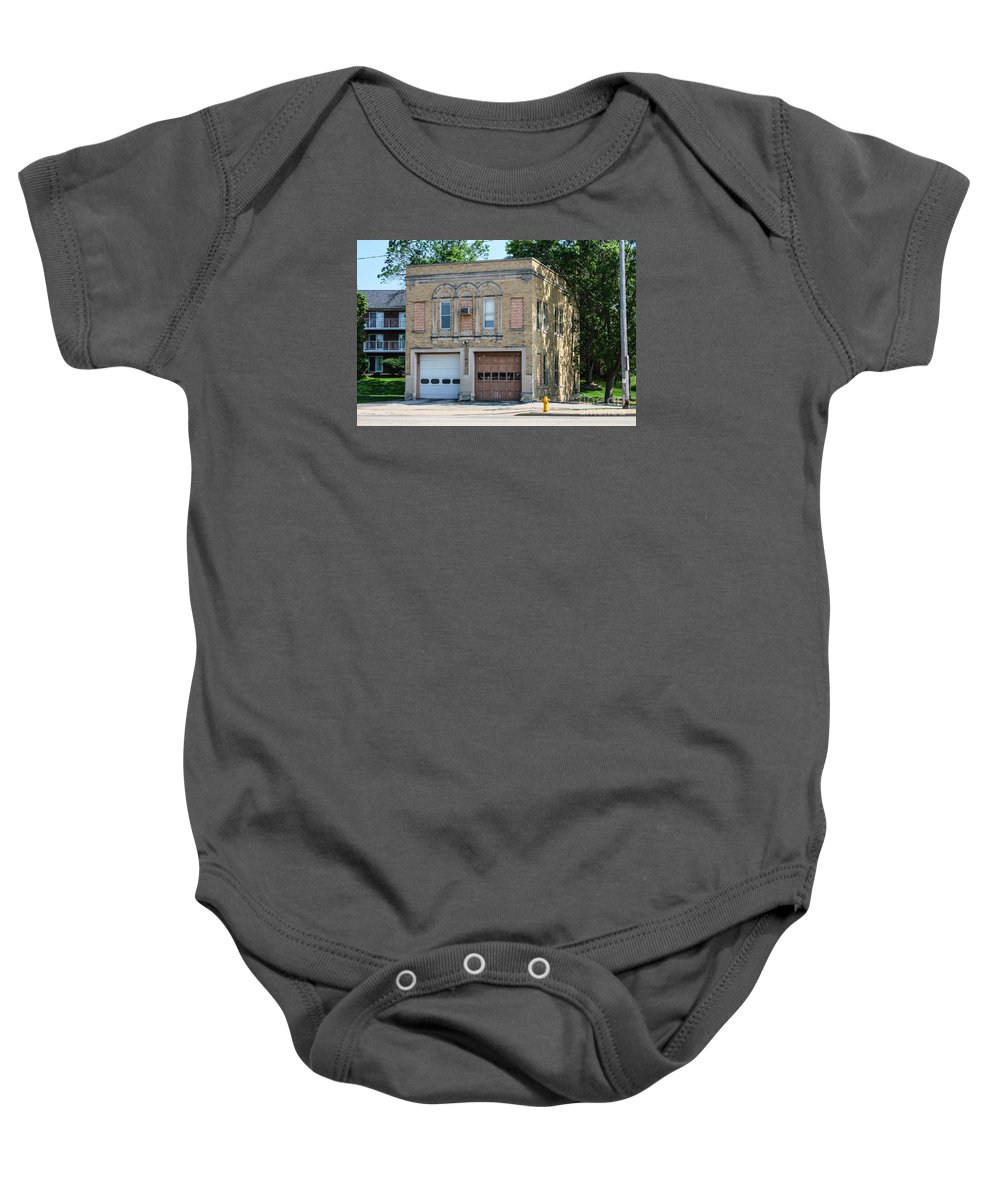 Fire Station Baby Onesie featuring the photograph Abandoned Station by Tommy Anderson