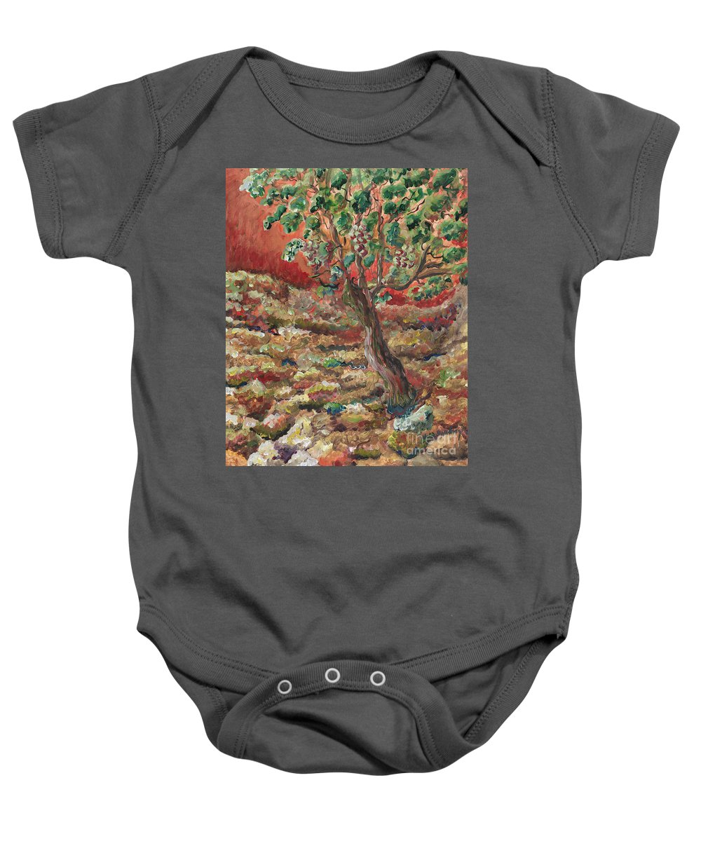 Abide Baby Onesie featuring the painting Abide by Nadine Rippelmeyer