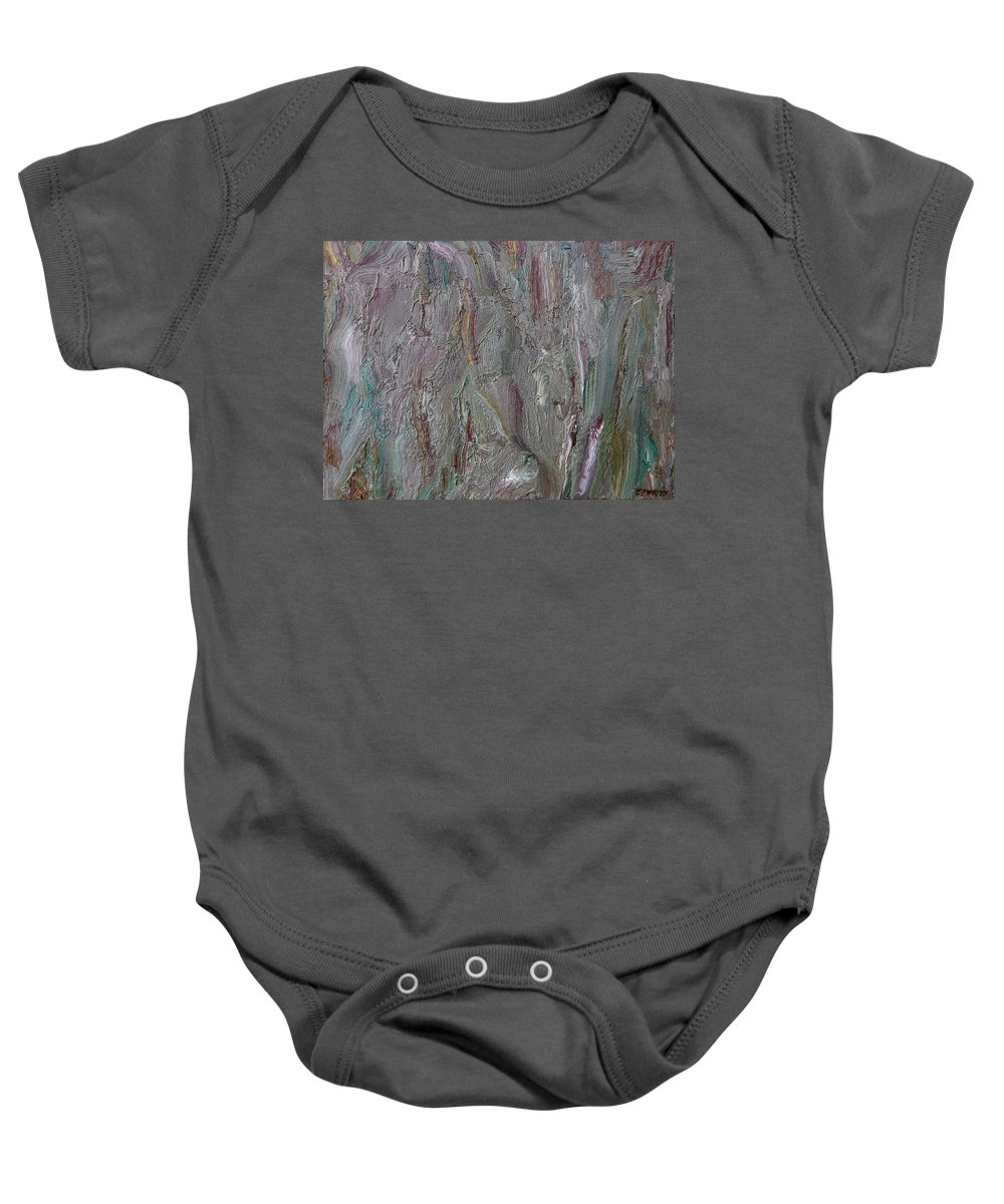 Abstract Baby Onesie featuring the painting Abstract 409 by Patrick J Murphy