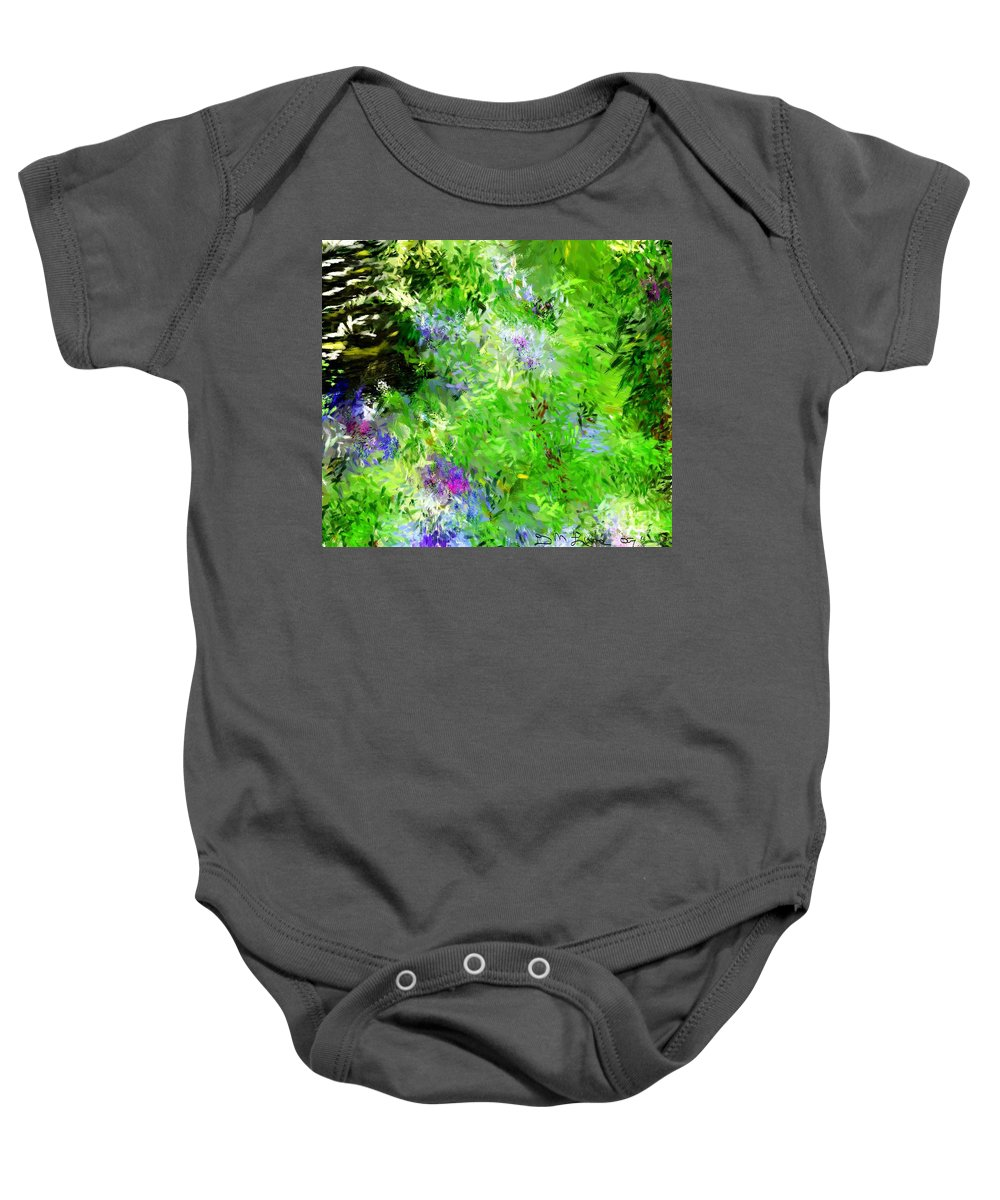 Abstract Baby Onesie featuring the digital art Abstract 5-26-09 by David Lane