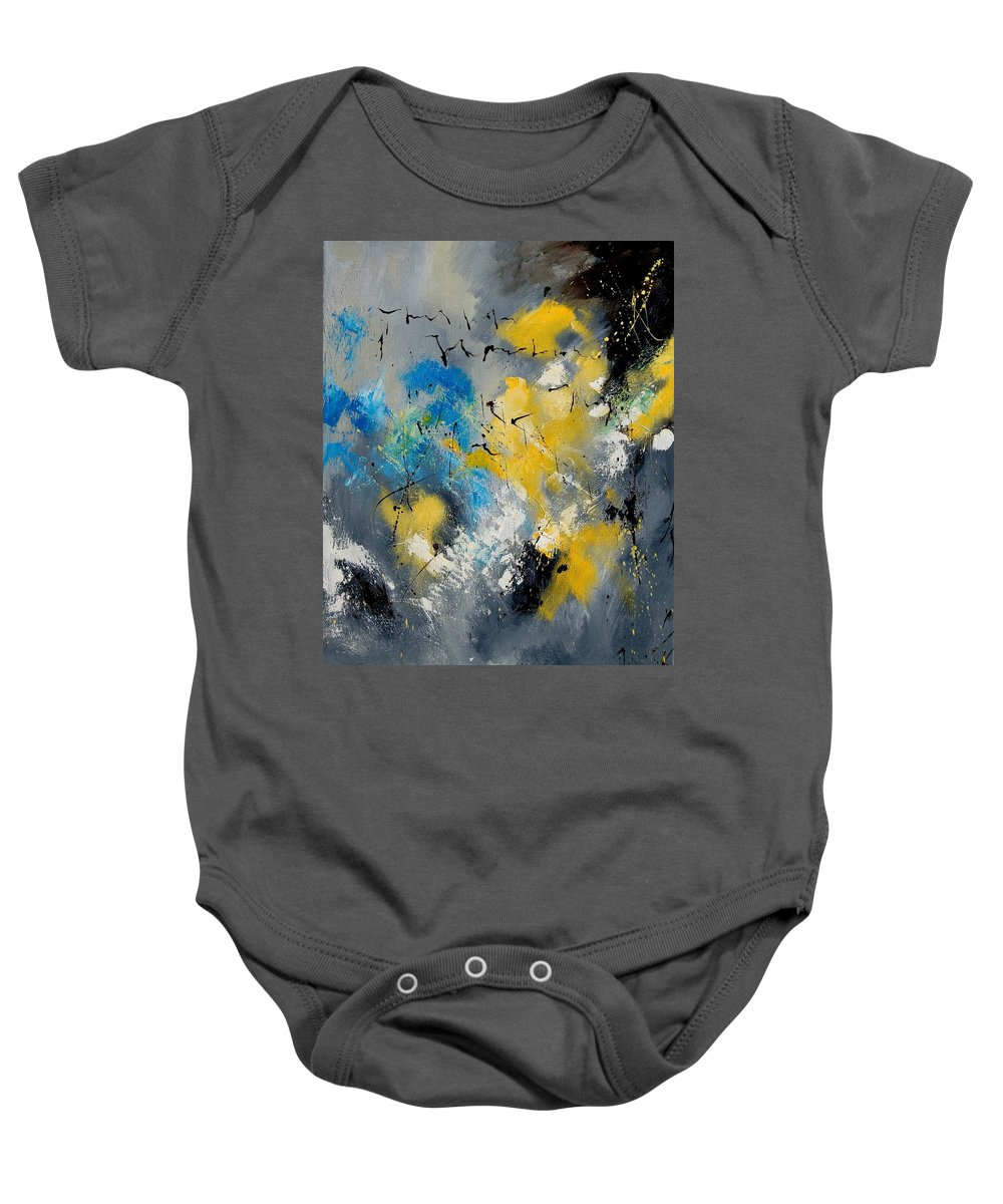 Abstract Baby Onesie featuring the painting Abstract 569070 by Pol Ledent