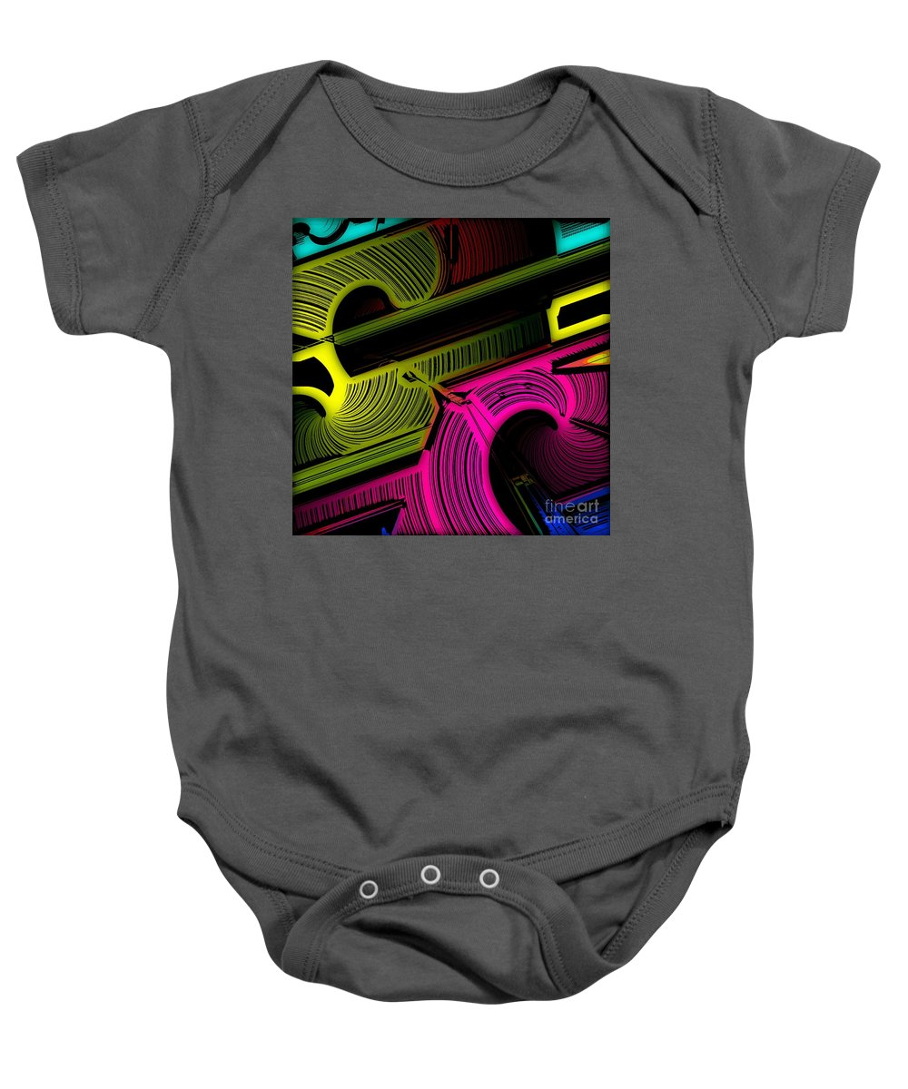 Abstract Baby Onesie featuring the digital art Abstract 6-21-09 by David Lane