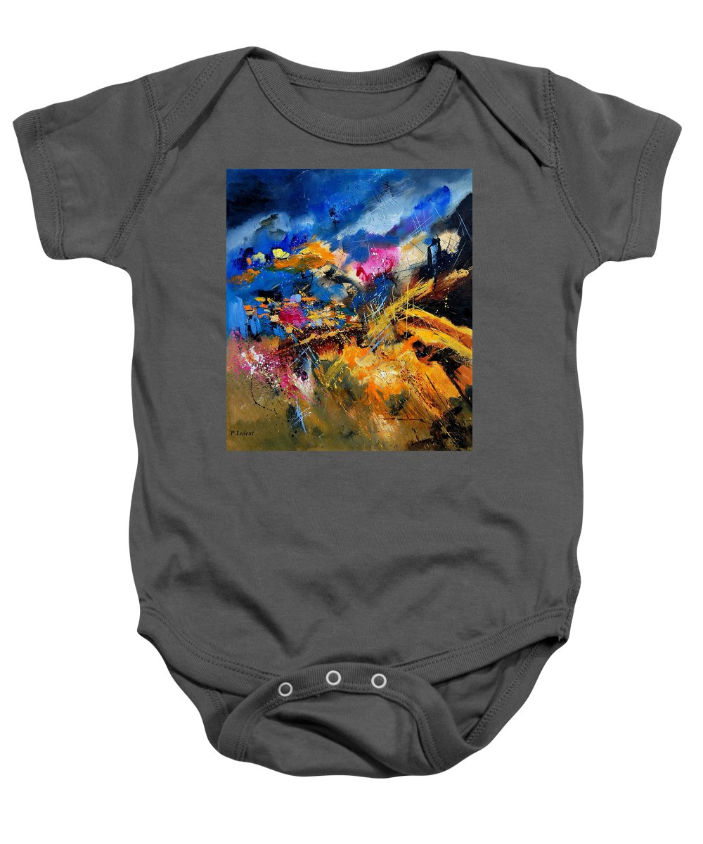 Abstract Baby Onesie featuring the painting Abstract 7808082 by Pol Ledent