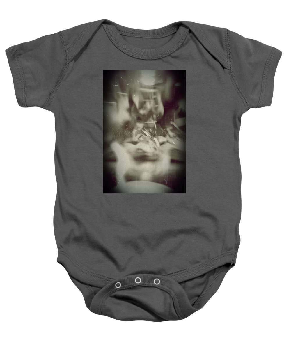 Abstract Baby Onesie featuring the photograph Abstract Glass by Scott Wyatt