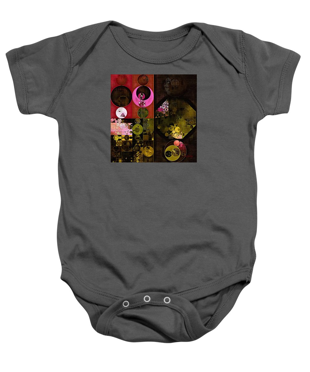 Abstract Painting Baby Onesie featuring the digital art Abstract Painting - Tonys Pink by Vitaliy Gladkiy