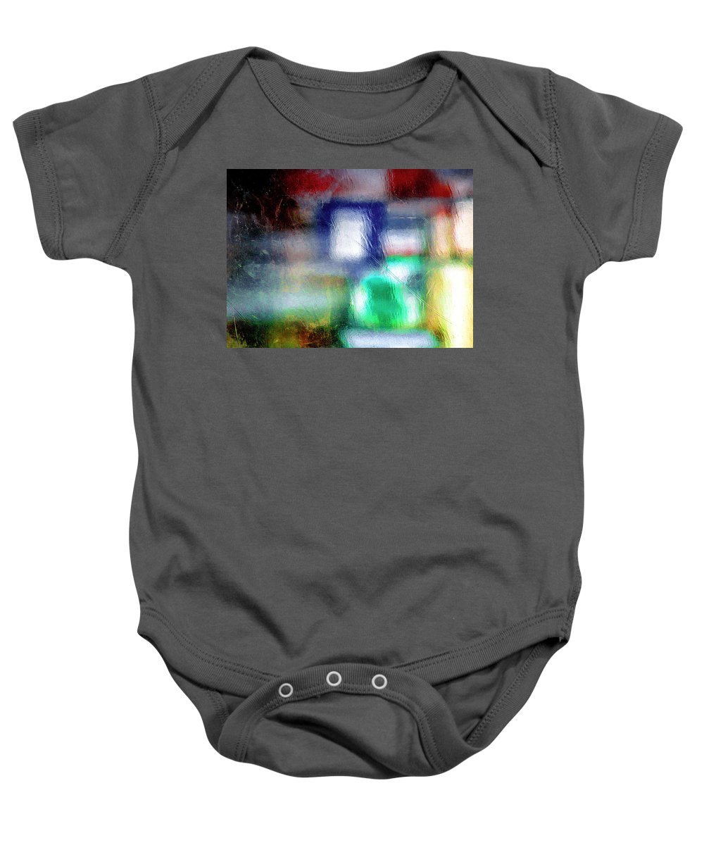 Green Baby Onesie featuring the photograph Abstraction by Prakash Ghai