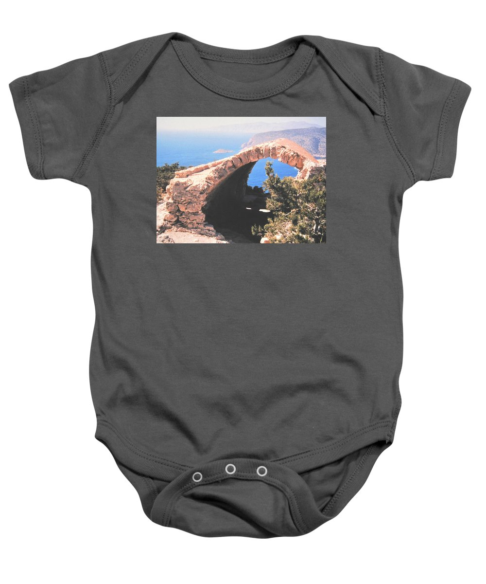 Greece Baby Onesie featuring the photograph Across To Turkey by Ian MacDonald