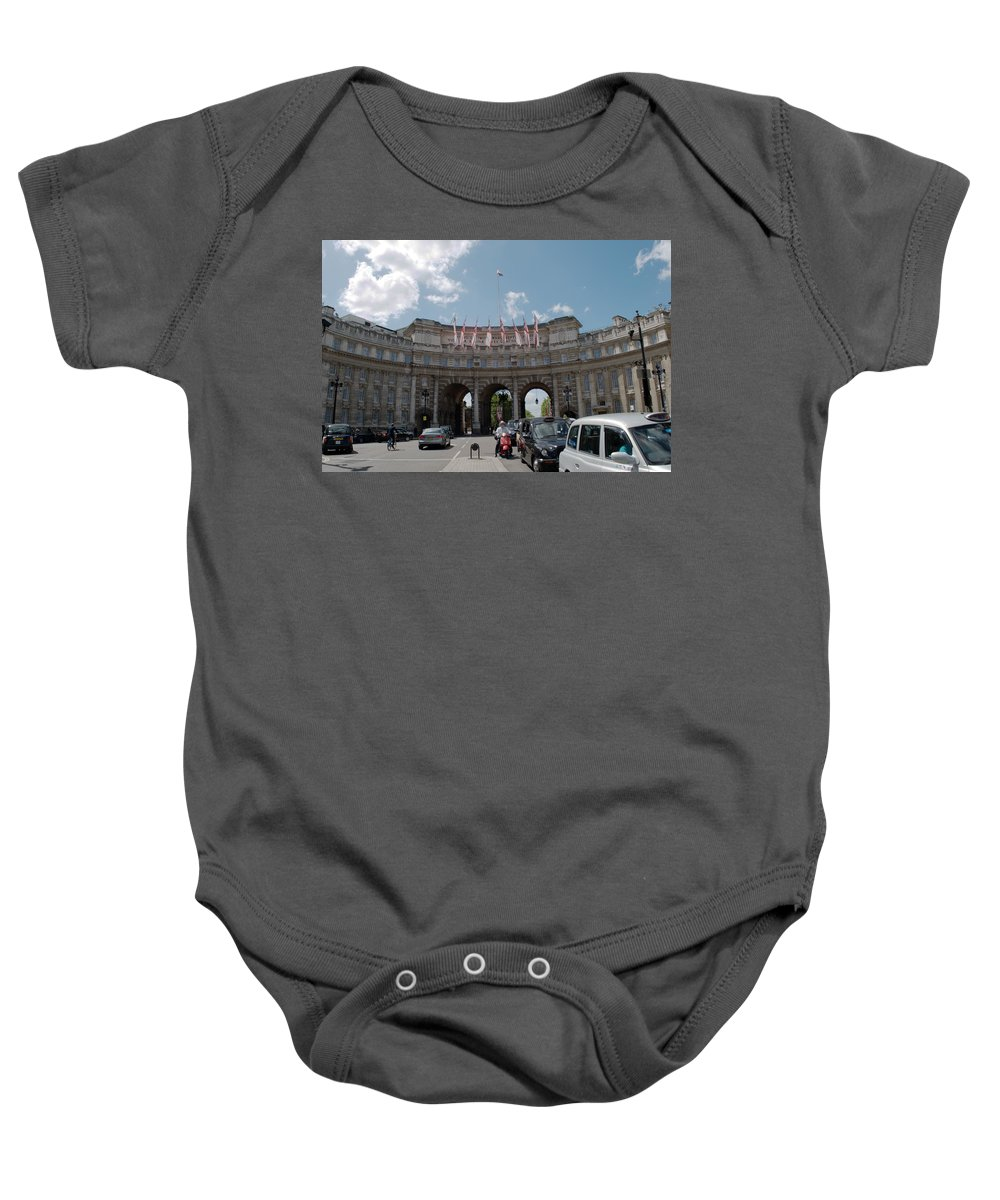Admiralty Arch Baby Onesie featuring the photograph Admiralty Arch by Chris Day