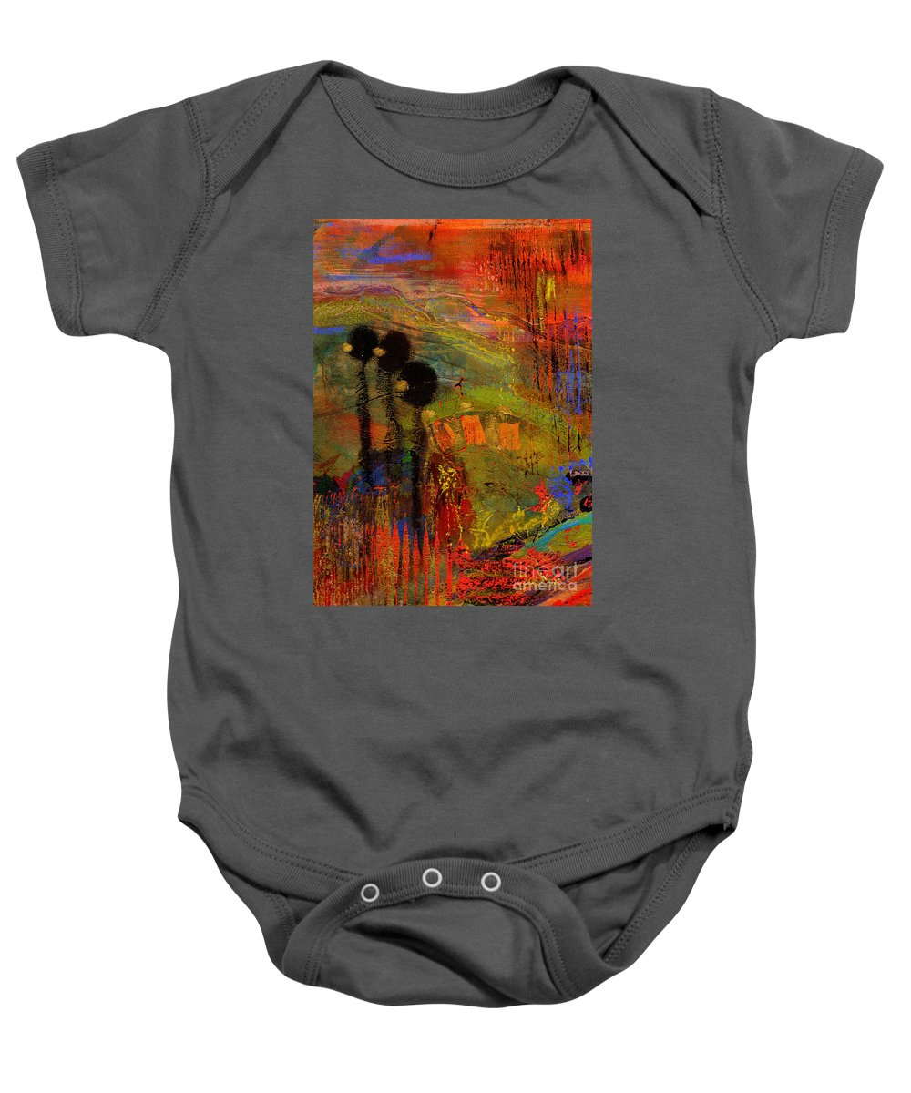 Gretting Cards Baby Onesie featuring the mixed media Admiring God's Handiwork I by Angela L Walker