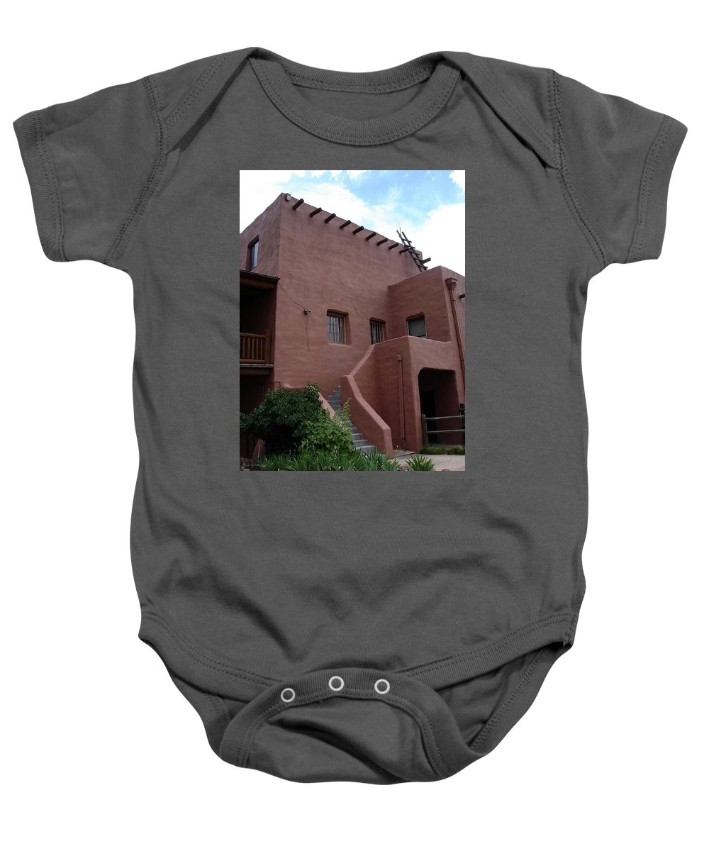 Santa Fe Baby Onesie featuring the photograph Adobe House At Red Rocks Colorado by Merja Waters