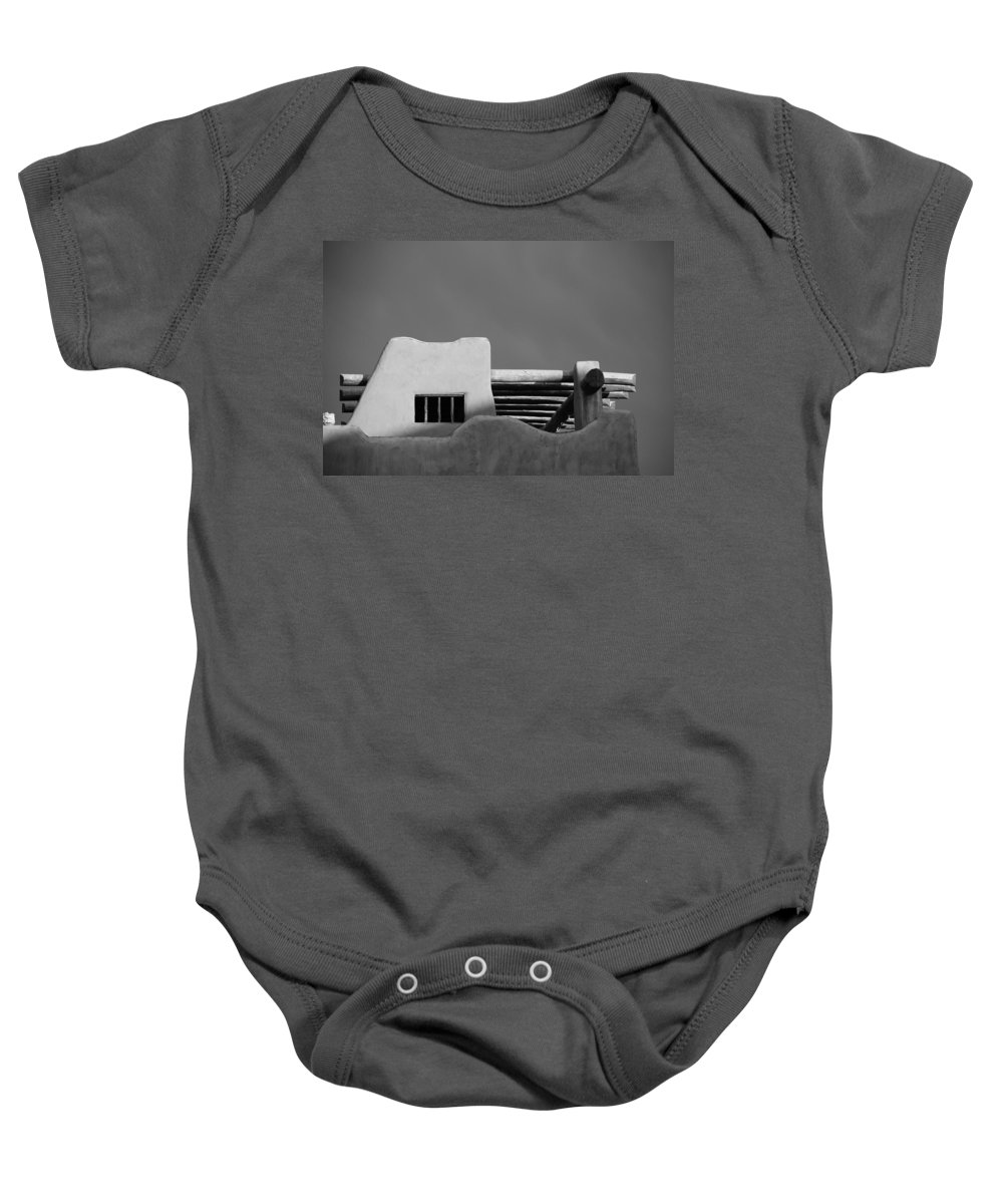 Architecture Baby Onesie featuring the photograph Adobe Turrett by Rob Hans