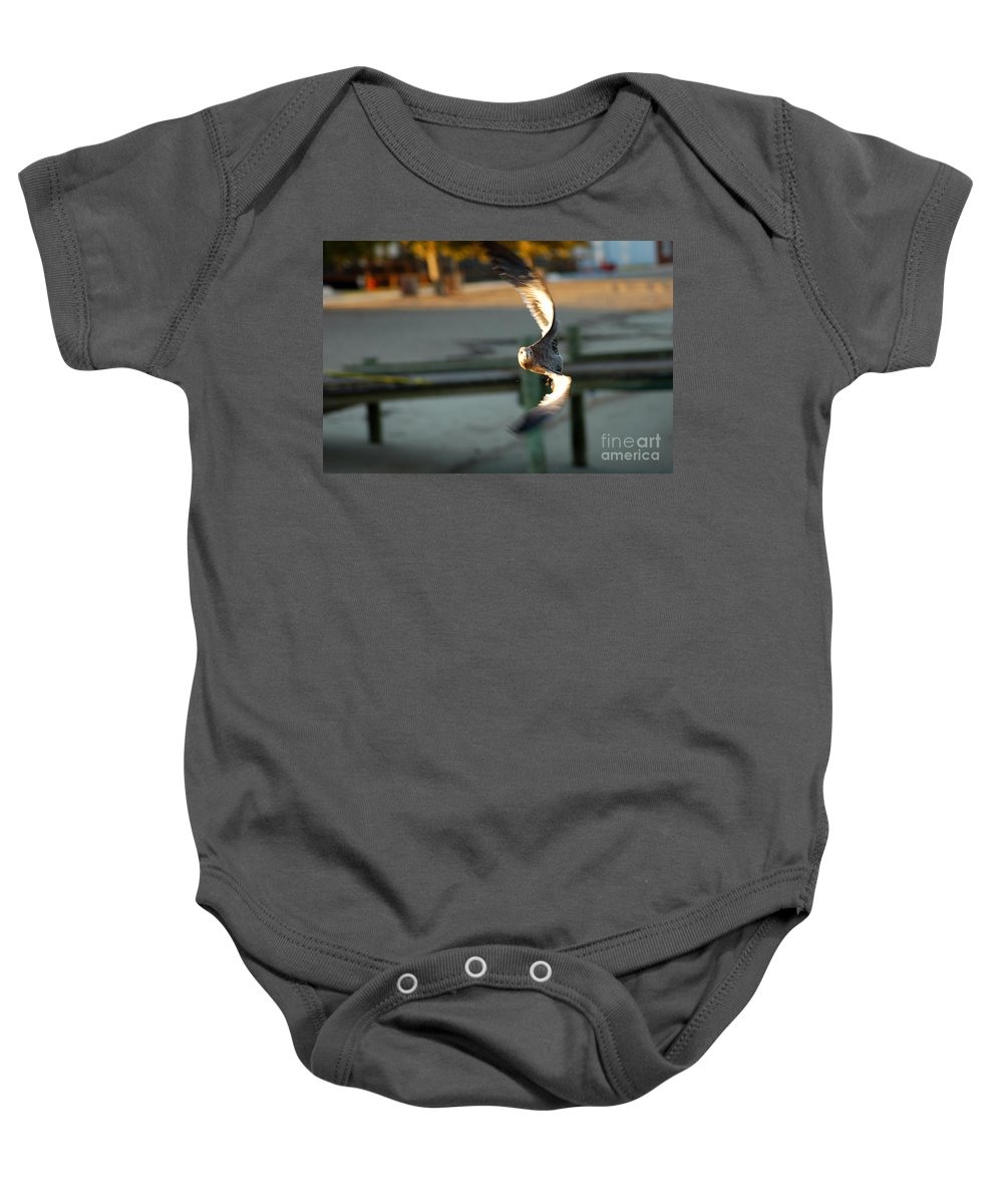 Clay Baby Onesie featuring the photograph Aeronautical Acrobatics by Clayton Bruster