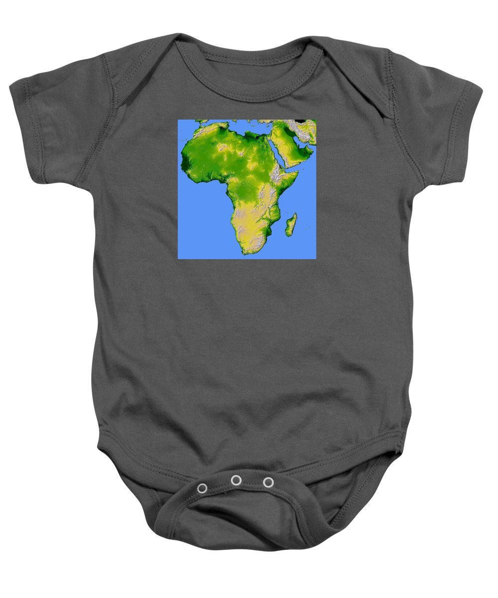 Artistic Panda Baby Onesie featuring the pyrography Africa by Artistic Panda