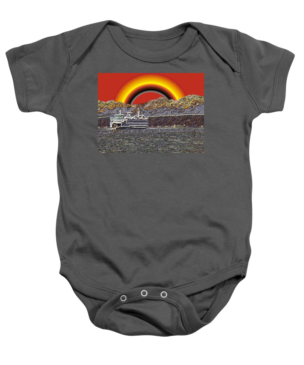 Seattle Baby Onesie featuring the photograph After The Rains by Tim Allen