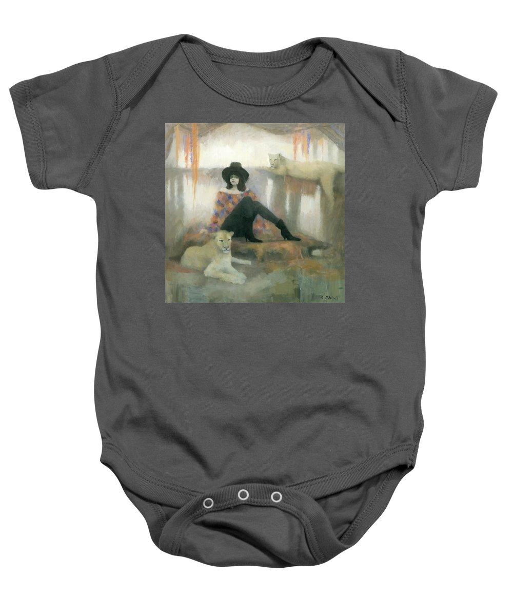 Figurative Baby Onesie featuring the painting After The Show by Steve Mitchell