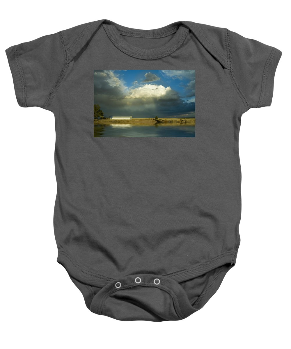 Storm Baby Onesie featuring the photograph After The Storm by Jerry McElroy