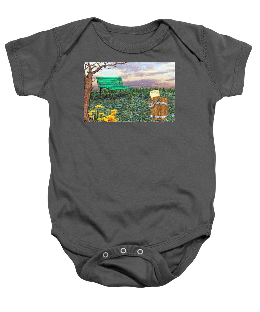 Afternoon Snooze Baby Onesie featuring the digital art Afternoon Snooze by L Wright