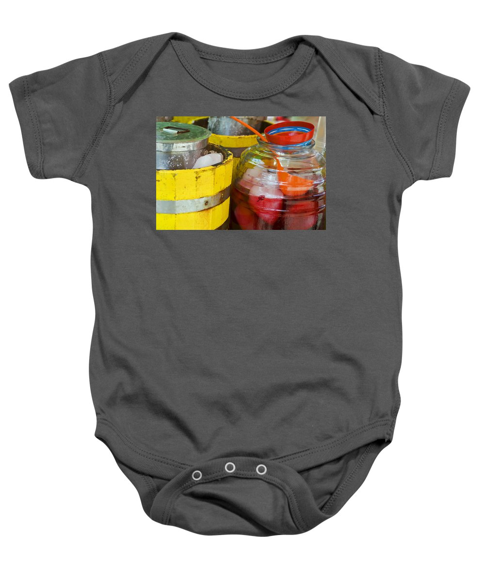 Beverage Baby Onesie featuring the photograph Agua De Hamaica by Skip Hunt
