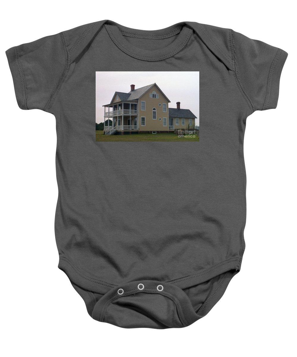 Alabama Baby Onesie featuring the digital art Alabama Coastal Home by Richard Rizzo