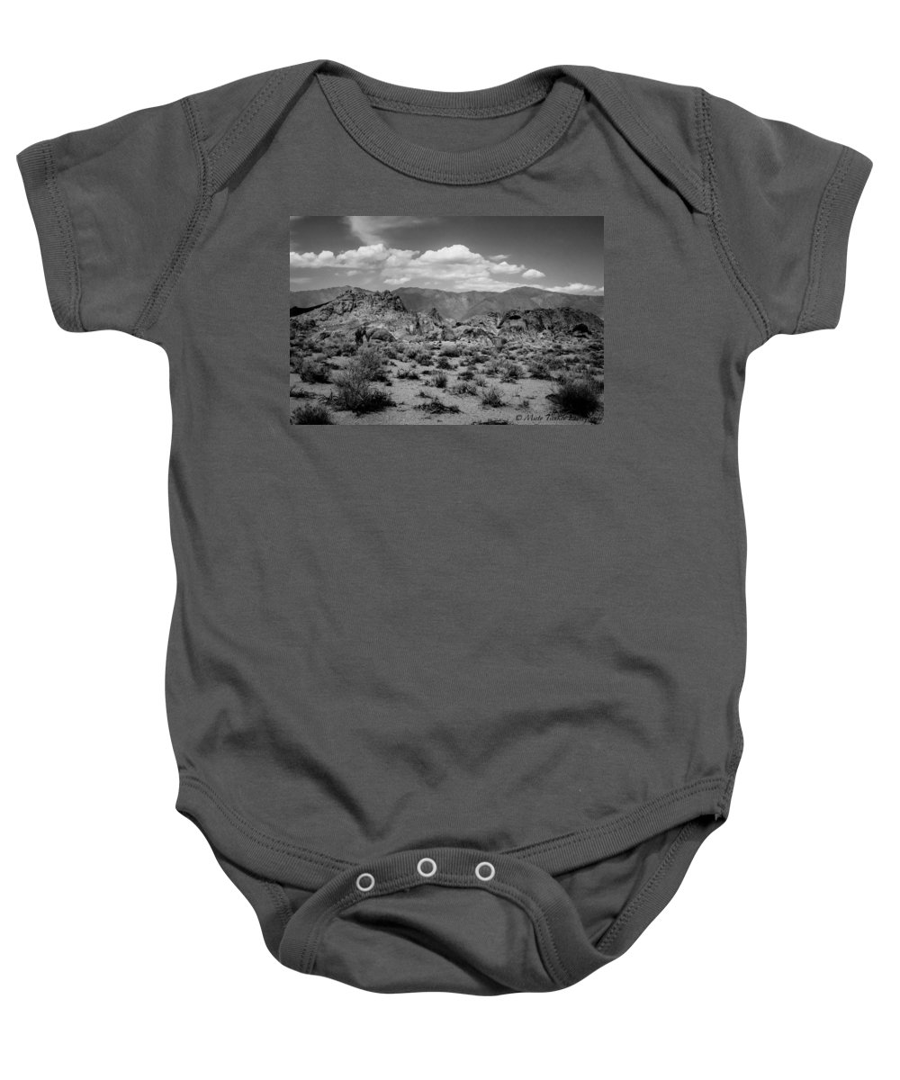 Alabama Hills Baby Onesie featuring the photograph Alabama Hills by Misty Tienken